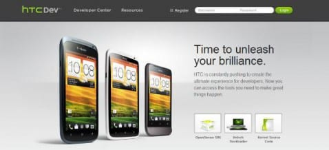 Página principal de HTCdev