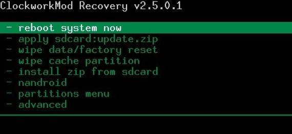 Clokworkmod recovery en Huawei u8650