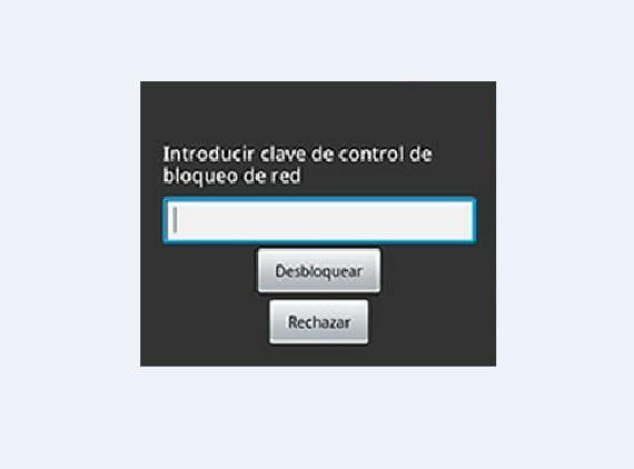 Código desbloqueo operador