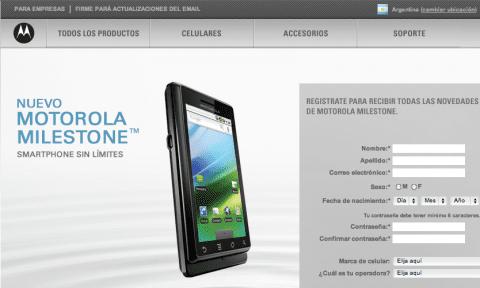 Motorola Milestone presentado hoy mismo en Argentina