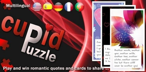 El regalo perfecto para el día de los enamorados, CupidPuzzle para Android