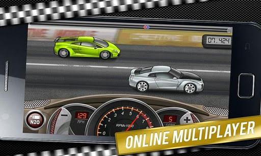Compite contra otros coches en Drag Racing un juego diferente de coches