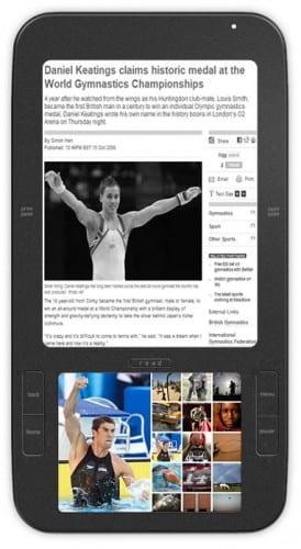 Primer lector de libros electrónicos con Android