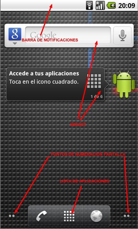 Usando Android- El escritorio