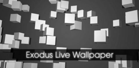 Exodus Live Wallpaper un fondo animado minimalista para Android