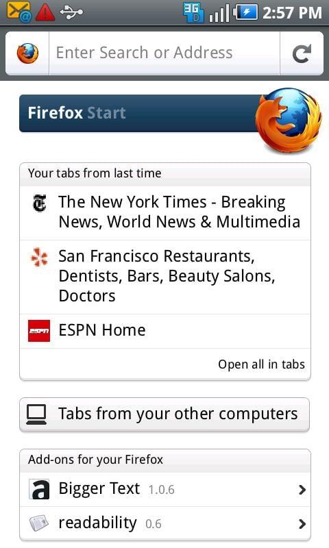 Firefox 6.0 para Android ya está disponible en el Android Market