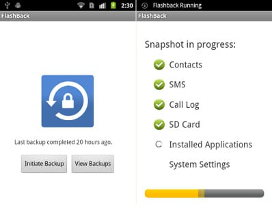 Flashback: Backup encriptado para Android