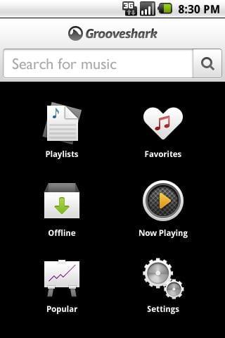 GrooveShark captura