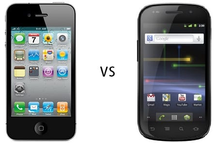 iphone4 vs nexuss Comparativa: Google Nexus S vs iPhone 4