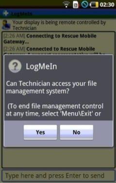 HTC quiere incluir la aplicacion LogMeIn Rescue para diagnosticar problemas remotamente
