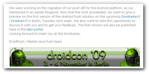 Presentaciones de Sony Ericsson en el Droidcon 09?