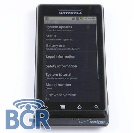 Nueva Imagen del Motorola Droid o Sholes