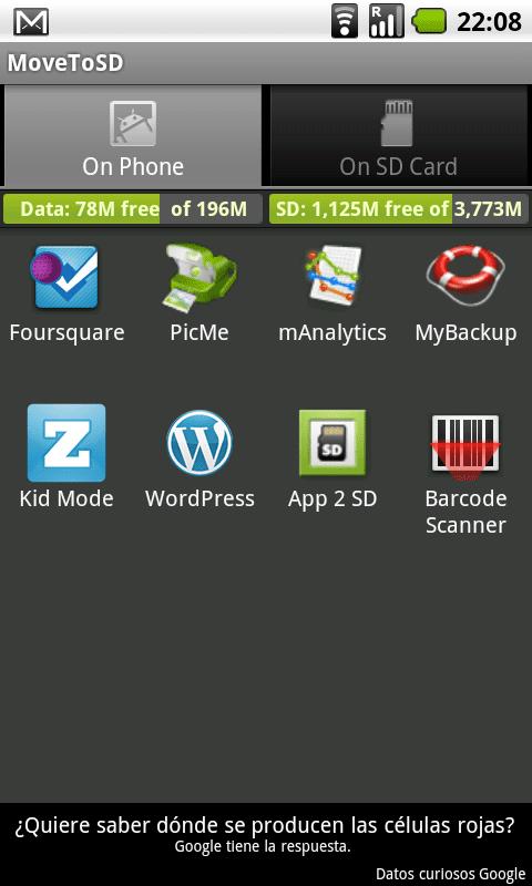 aplicaciones para tarjeta de memoria