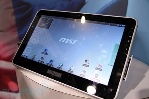 MSI presenta su tablet con Android