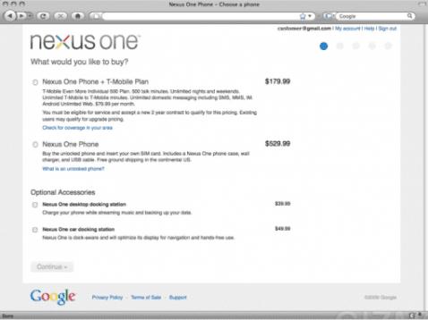 NexusOne: planes y precios