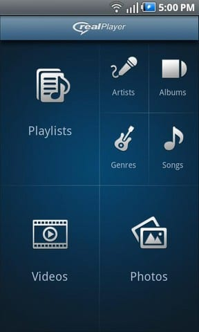 Real Player para Android, nueva beta del reproductor multimedia