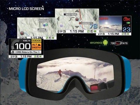 Gafas GPS para esquiar de Recon con Android y Bluetooth