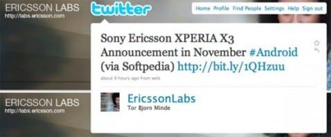 Sony Ericsson Xperia 3: novedades