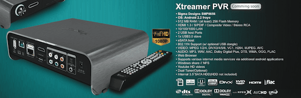 Xtreamer Especificaciones