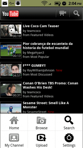 youtube android 3 281x500 Youtube para Android se remodela completamente y ya disponible en el Android Market